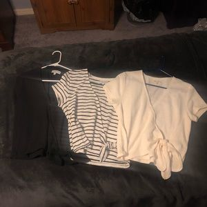 3 Madewell Texture & Thread tie-front tops